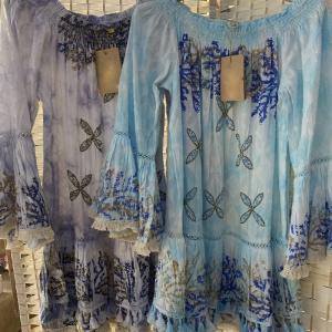 Vestido Ibicenco con estrella con perlitas.